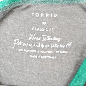 torrid Tops - ⚡Sold⚡Torrid Classic Fit Raglan Burnout Tee 00 M L